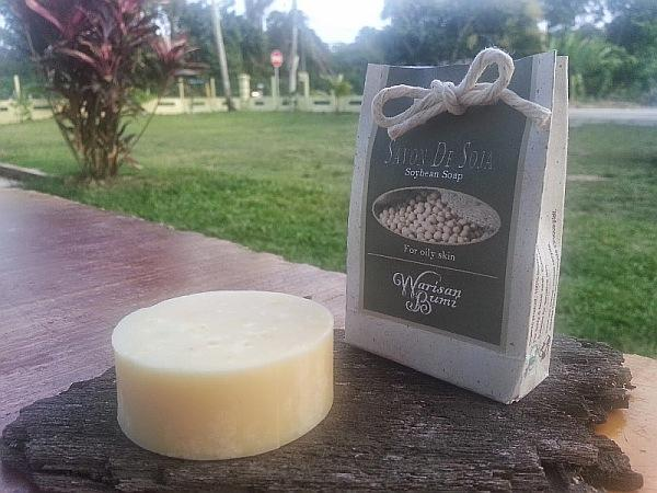 Warisan Bumi Natural Soy Soap Bar for Oily Skin Control. Handmade