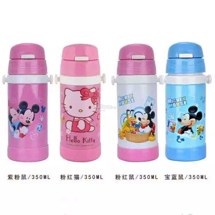 Warmmie Children cartoon thermos Vacuum Flask - Pink Hello Kitty