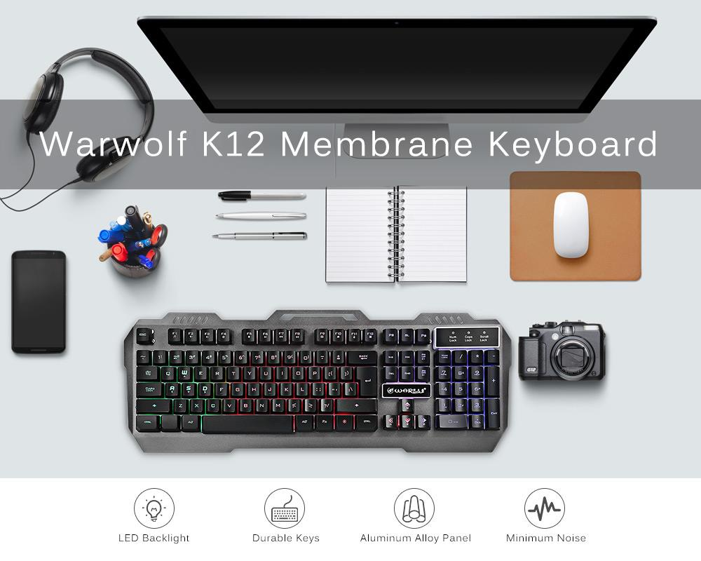 Warwolf K12 Wired Keyboard with RGB Backlight