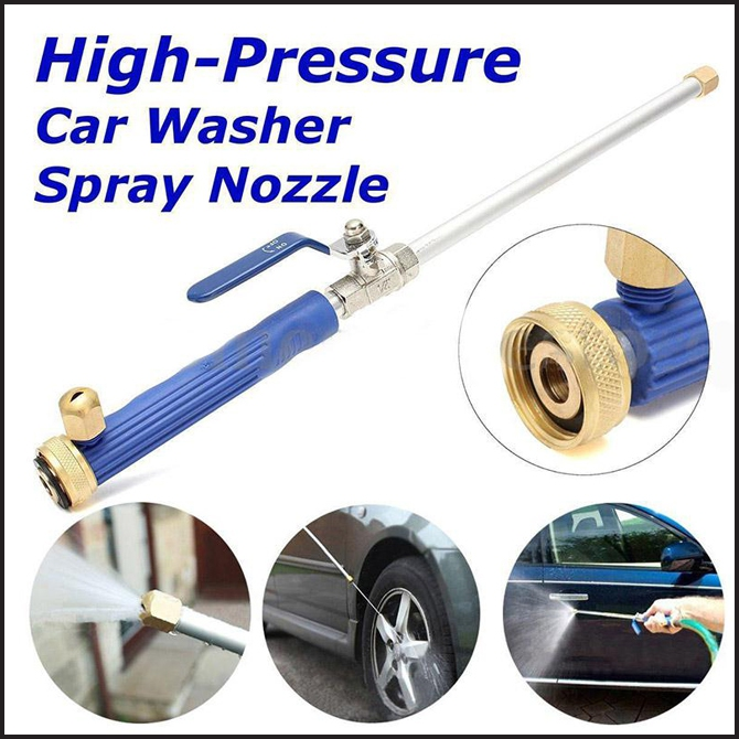 Washer Spray Nozzle Water Jet Hose Wand Attachment Cleaning Tool