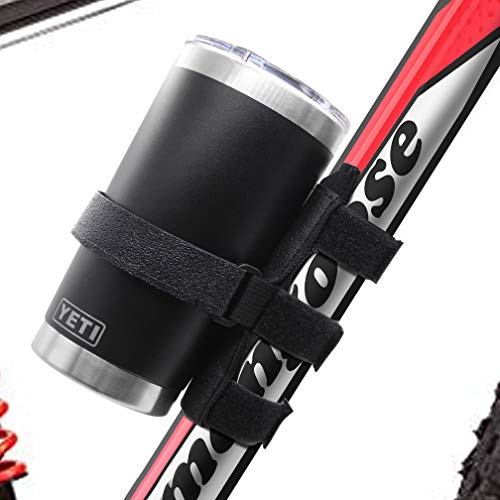 Wassers Universal Portable Bike Yeti Bottle Mount Holder, Adjustable Strap Att