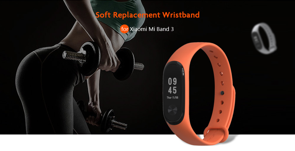 Watch Bands - Silicone Watch Strap For Xiaomi Miband 3 - Soft Solid Co..