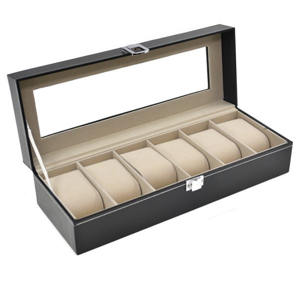 (watch display and storage box(6 slots)
