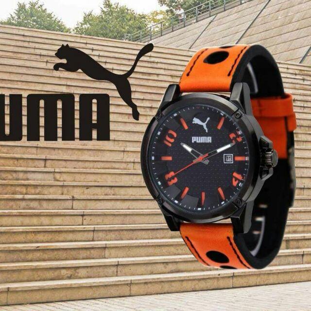 puma leather watch