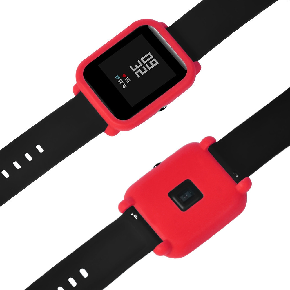 Watch Silicone Case - For Xiaomi Huami Amazfit Bip Rubber Band Protect..