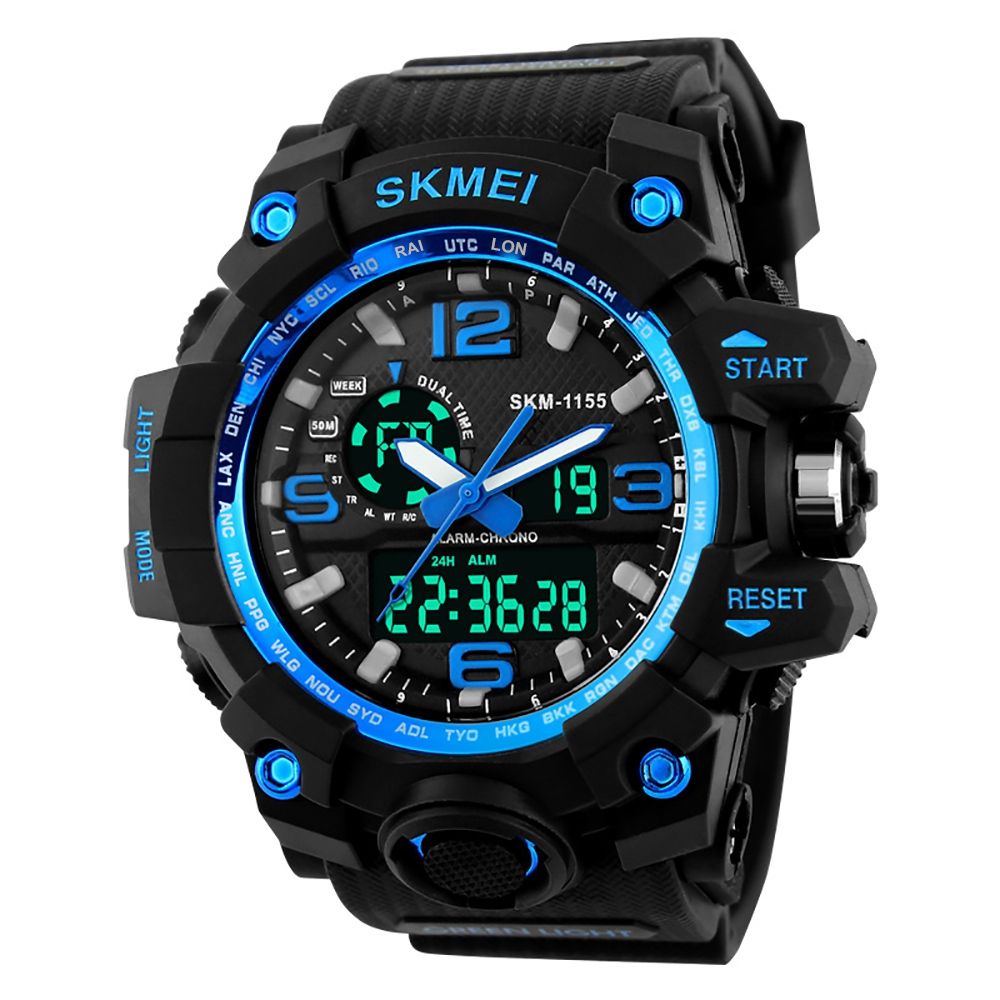 Watches - SKMEI Large Dial Shock Outdoor Sports Men Digital Led Milita..