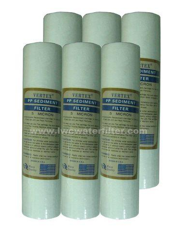 Water Filter Cartridge Vertex 05 Micron Sediment ( 6 pcs )