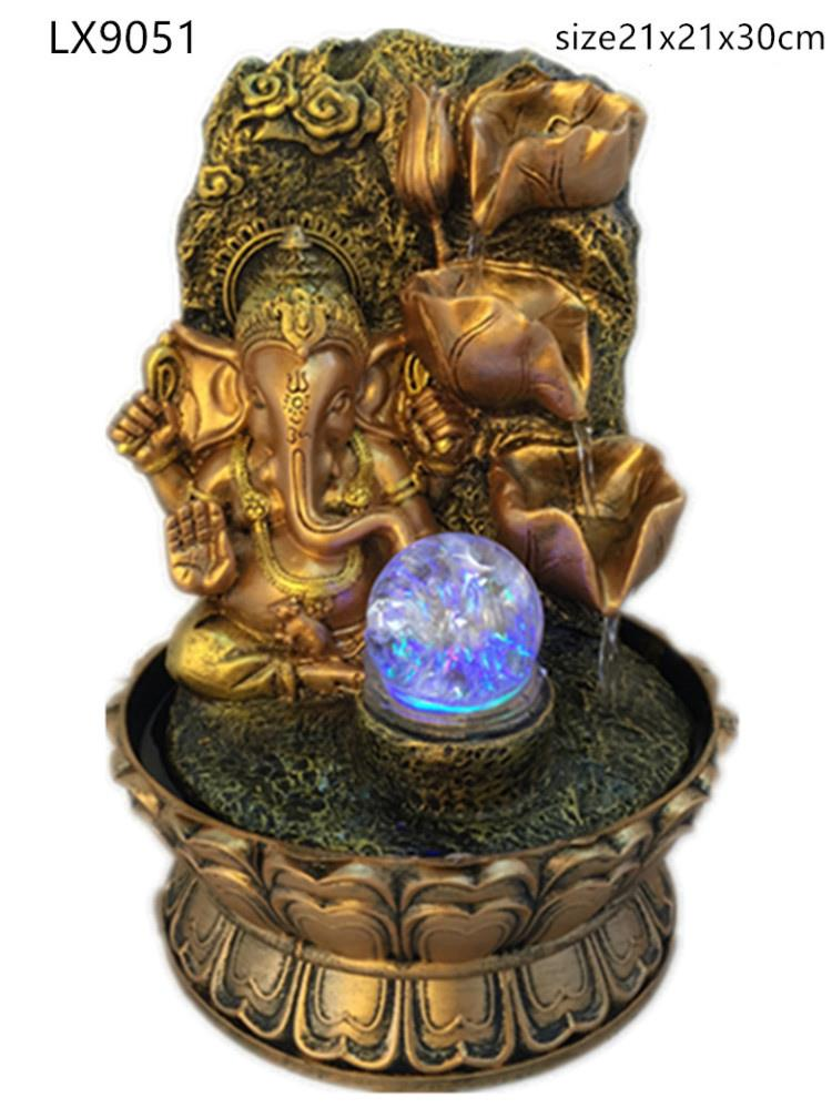 WATER FOUNTAIN - GANESHA 9051 WATER FEATURE FENG SHUI HOME DECORATION