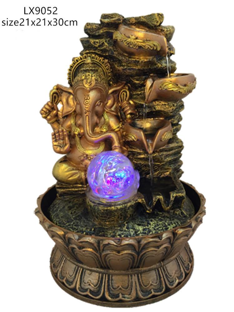 WATER FOUNTAIN - GANESHA 9052 WATER FEATURE FENG SHUI HOME DECORATION