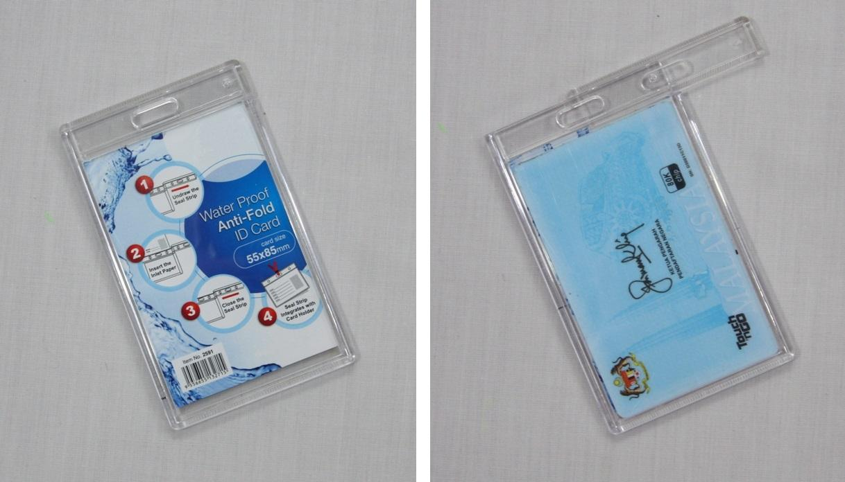 Water Proof Anti-Fold ID Card Holder