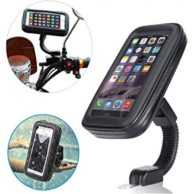 Water Resistant Motorcycle Phone Holder With Bag