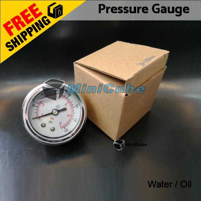 WATER SUPPLY LIQUID FILLED PRESSURE GAUGE 40mm/ 50mm 0-145PSI