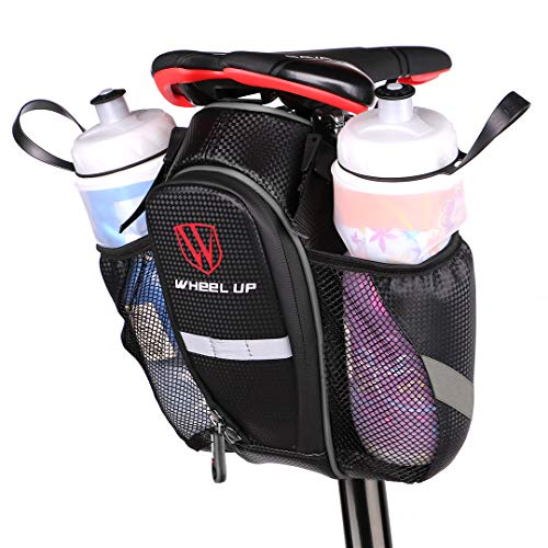 WATERFLY Bike Saddle Bag Waterproof Bike Seat Bag Pouch Water Bottle Holder Mo