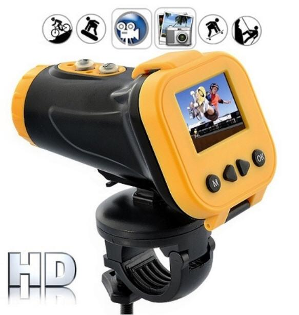Waterproof Laser Sport Action Camera with Colour Screen (WSP-06).