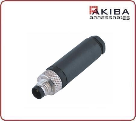 Waterproof M8 3 pin Male embly Connector for Aviation Encoder on