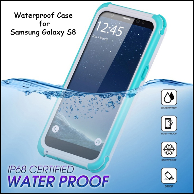 huge selection of 026e4 bd264 Waterproof Mobile Phone Case for Samsung Galaxy S8