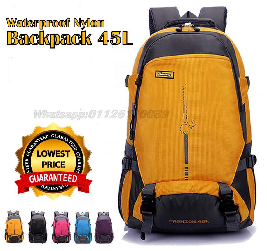 2efd33376378 Waterproof Nylon Travel Backpack 45L (end 1 24 2020 3 15 PM)