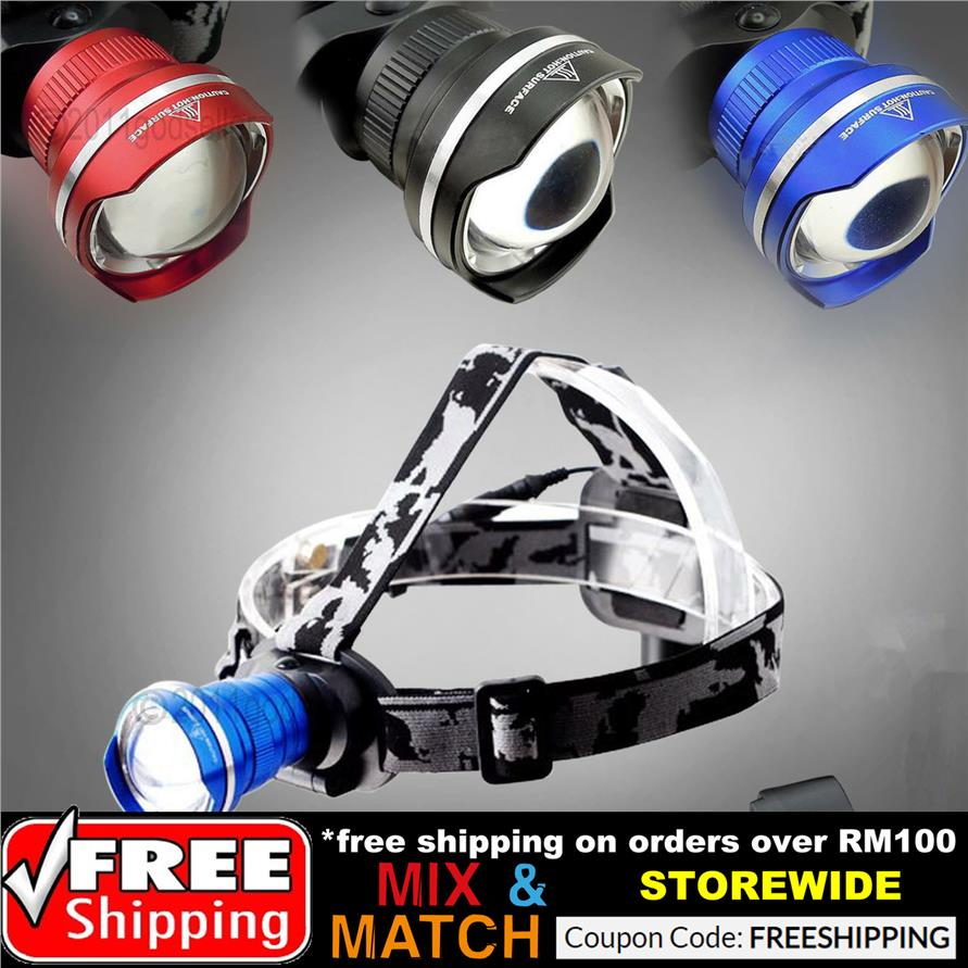 Waterproof Power Headlamp CREE T6 LED 1800Lm Zoomable Bicycle Camping