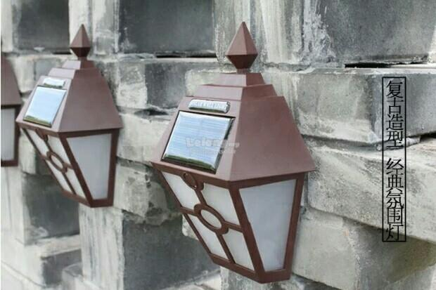 Waterproof Solar Euro2 Traditional Style wall Light