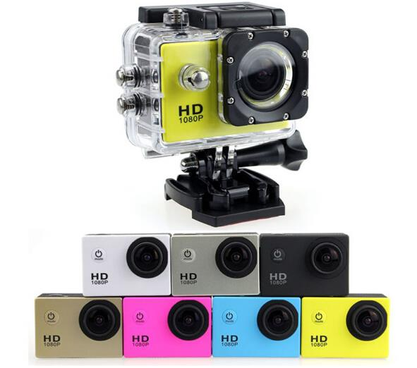 Waterproof Sport Camera dvr HD 1080P with 2.0 inch lcd Digital Zoom