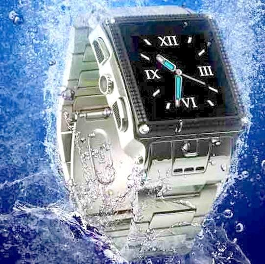 Waterproof Stainless Steel LCD Watch Camera Phone (DVR-11WP).