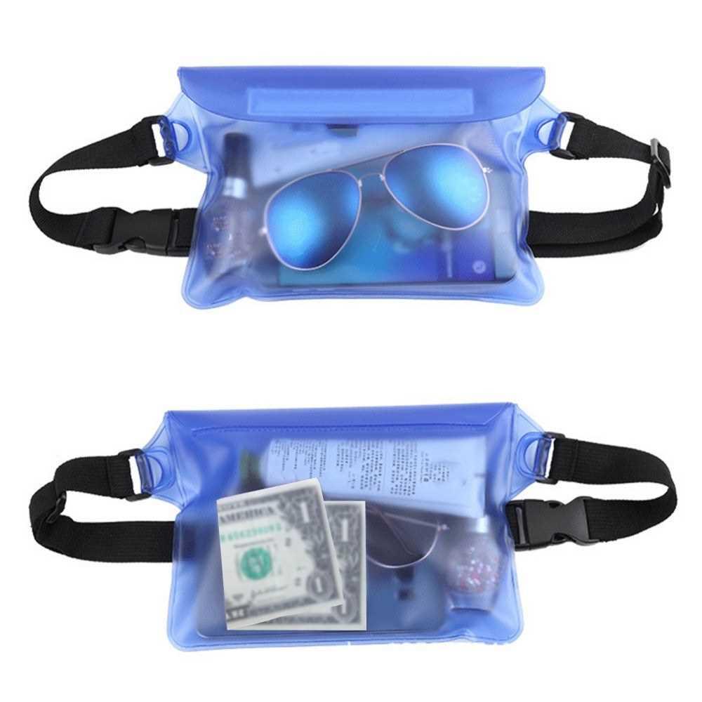 Waterproof Swim Drift Diving Bag Underwater Dry Shoulder Waist Belt Pocket Pou