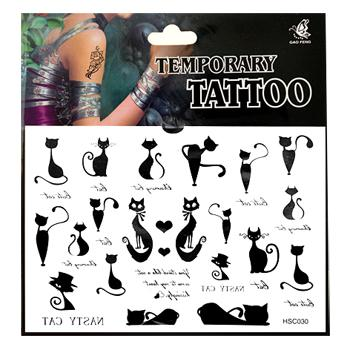 Waterproof Tattoo Stickers (Cat)