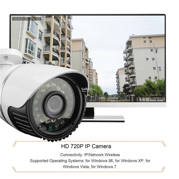 Waterproof Wireless HD 720P IP 24 IR Night Vision Security Camera For