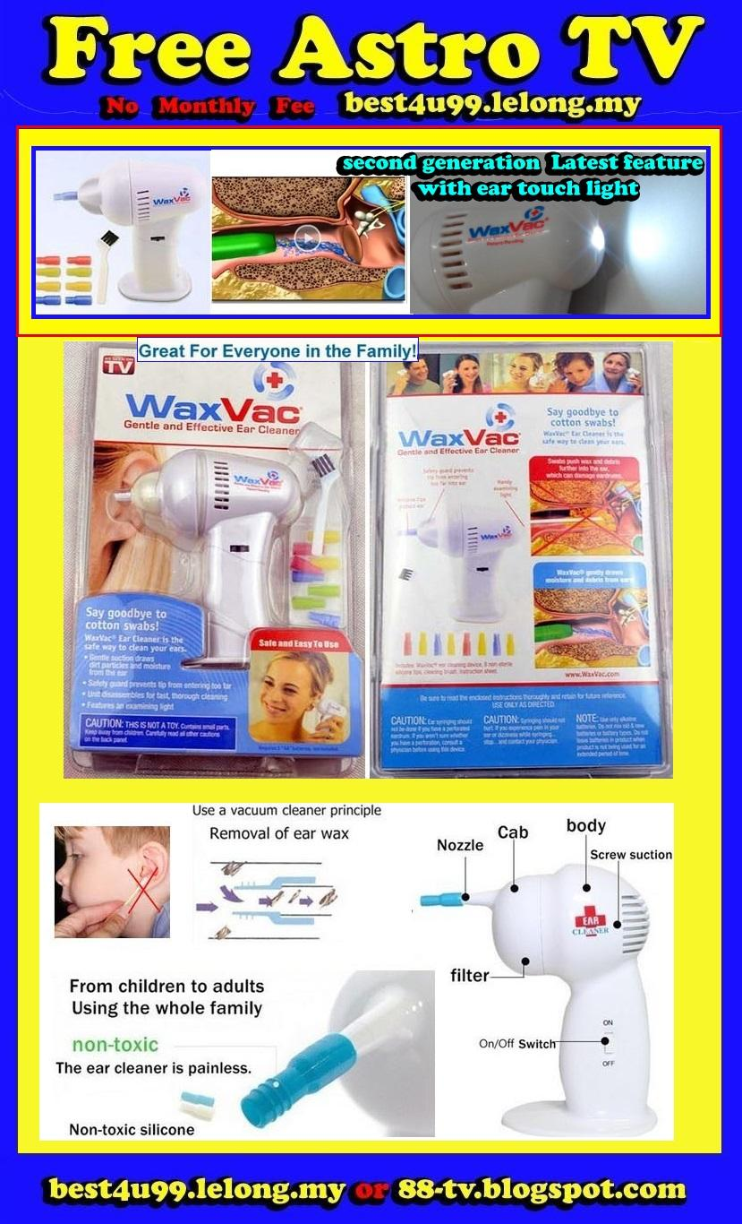 WAX VAC ear cleaner vacuum WaxVac Adult Child Baby Kid Children beauty