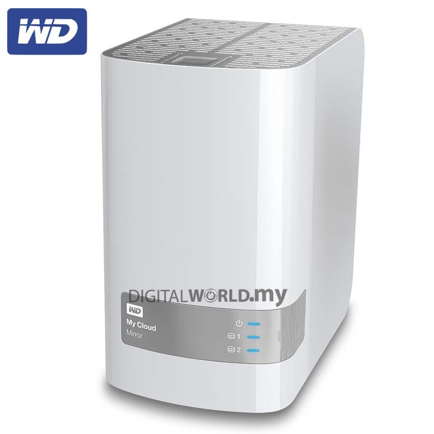 WD 4TB My Cloud Mirror Gen 2 Personal Network Attached Storage NAS -  WDBWVZ004