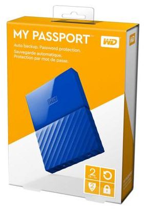 WD MY PASSPORT 2TB 2.5' USB3.0 EXT HDD (WDBS4B0020BBL) BLUE