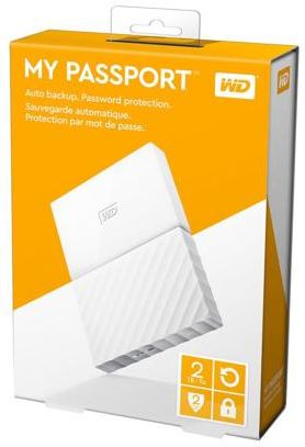 WD MY PASSPORT 2TB 2.5' USB3.0 EXT HDD (WDBS4B0020BWT) WHT
