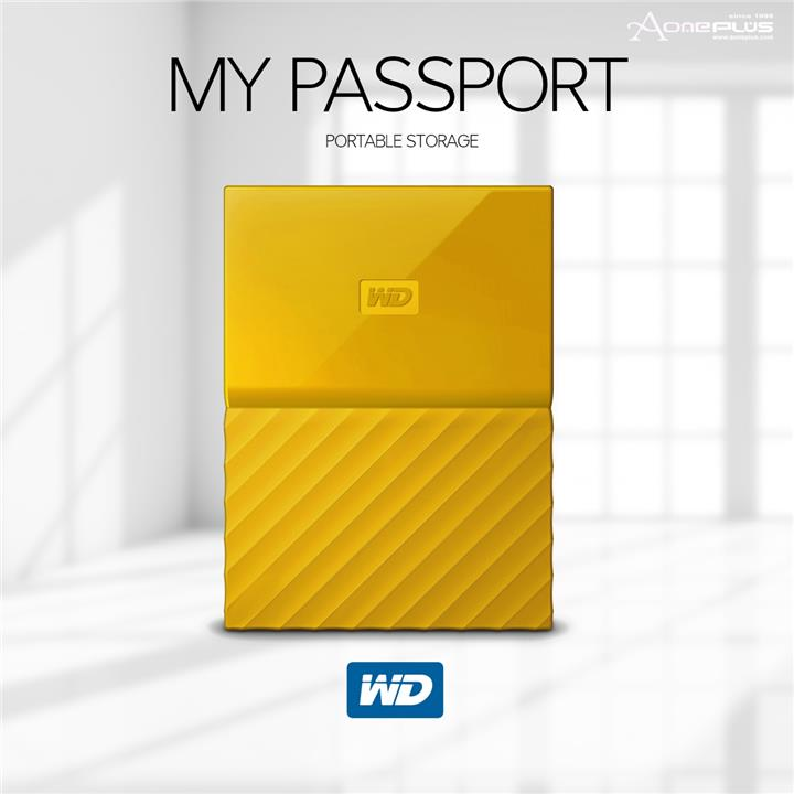 WD Western Digital My Passport 1TB External Hard Disk (Yellow)