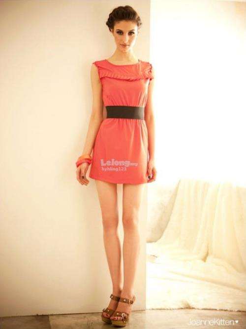 WD21667 JK Pretty Mini Dress Orange