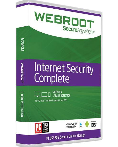 Webroot Secureanywhere Internet Security Complete 2020 - 1 Year 5 PC