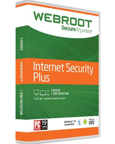 Webroot Secureanywhere Internet Security Plus 2020 - 1 Year 3 PC