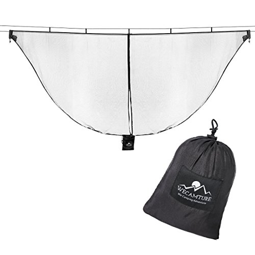 Wecamture Hammock Bug Mosquito Net XL 11x4.6FT No-See-Ums Polyester Fabric for