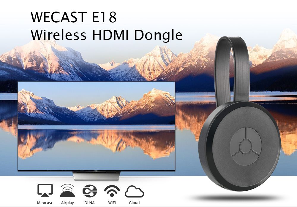 WECAST E18 Wireless HDMI Dongle Display Receiver