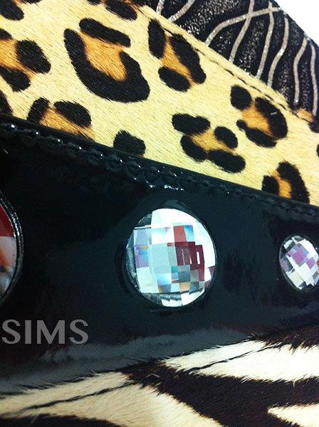 Wedding Clutch Wristlet Bag: leopard/zebra, Horse Leather, Bling Bling