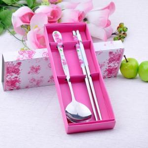 Wedding Gift~Portable Stainless Steel Dinner Set 2 pcs(Pink)