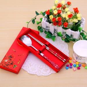 Wedding Gift~Portable Stainless Steel Dinner Set 2 pcs (Red)