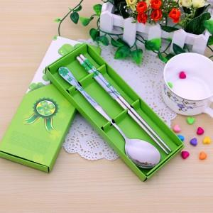 Wedding Gift~Portable Stainless Steel Dinner Set 2pcs(Green)