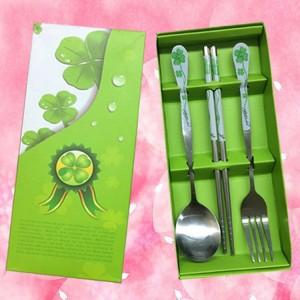 Wedding Gift~Portable Stainless Steel Dinner Set 3pcs(Green)