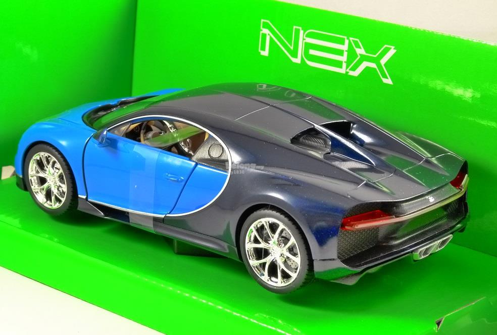 Welly 1/24 Diecast Car Bugatti Chiron (Blue)