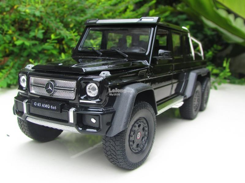 Welly 1/24 Diecast Car Mercedes Benz G63 AMG 6x6 Black