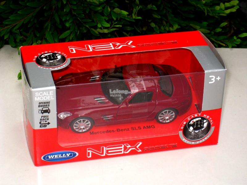 Welly 1/34-1/39 Die cast Car Mercedes Benz SLS AMG (Red)