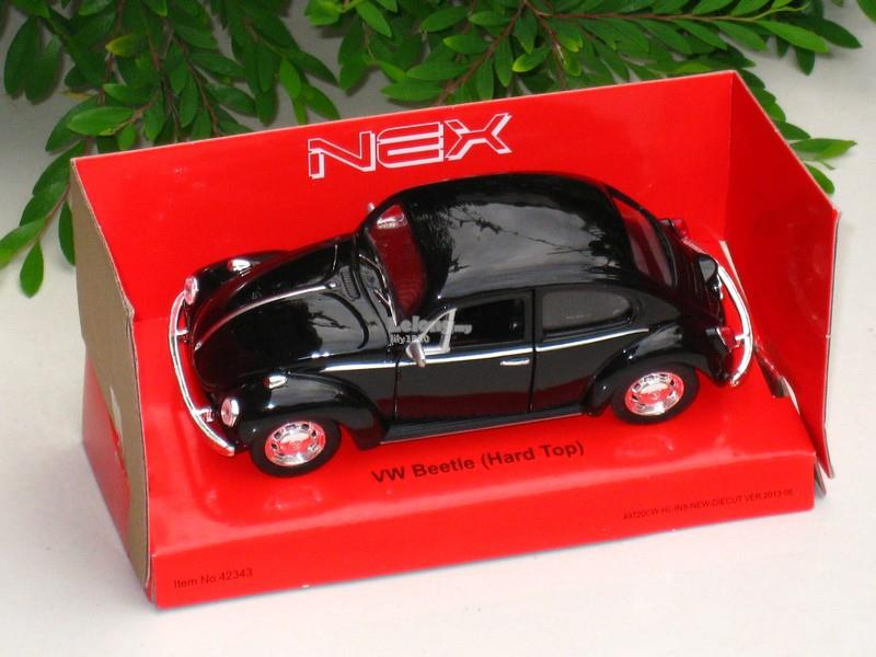 Welly 1/34-1/39 Diecast 1967 VW Volkswagen Beetle Hard Top (Black)
