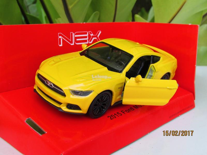 Welly 1 34 39 Diecast Car 2015 Ford Mustang GT Yellow