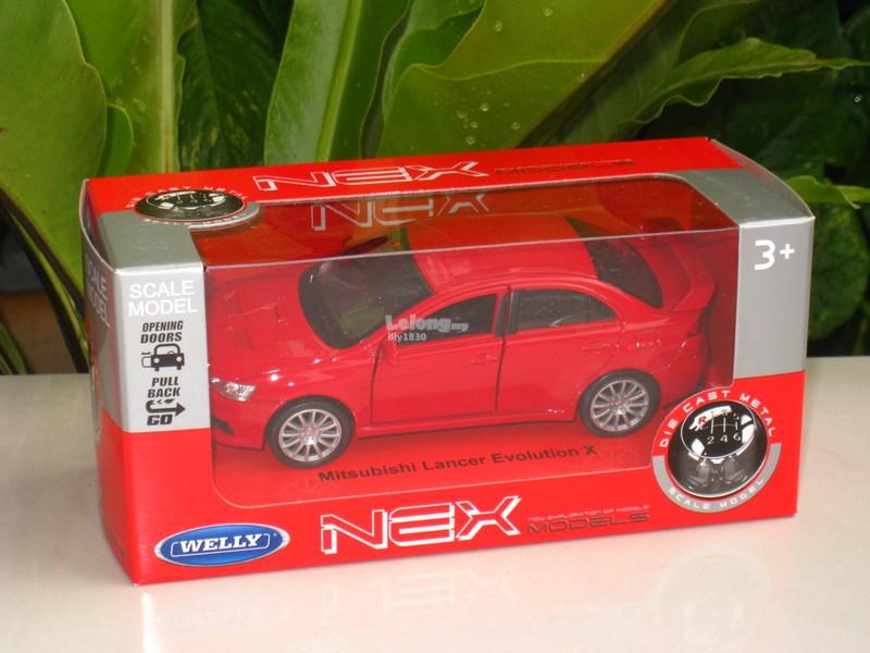 Welly 1/34-1/39 Diecast Car Mitsubishi Lancer Evolution EVO X (Red)