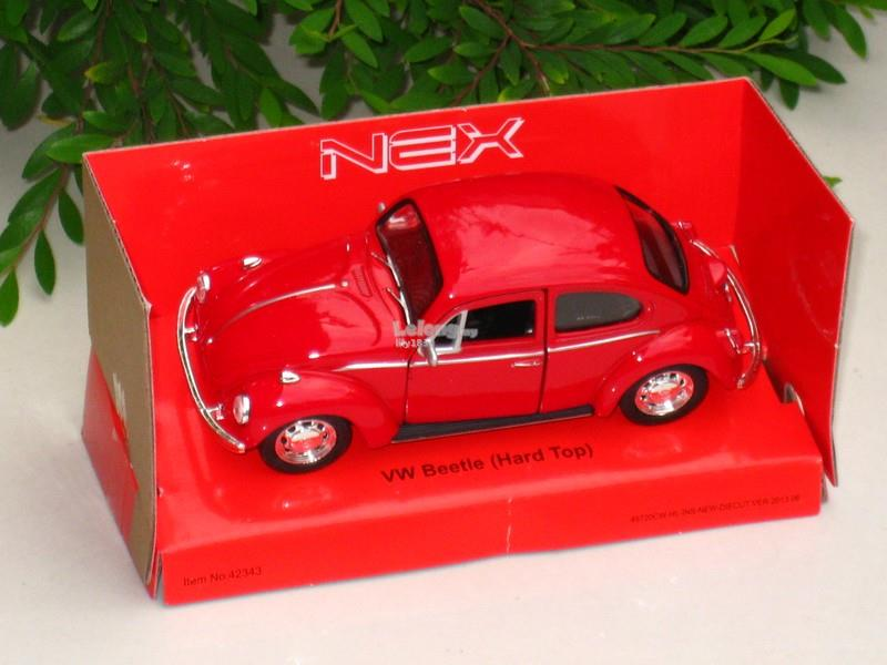 Welly 1/34-1/39 Diecast Classic VW Volkswagen Beetle (Hard top) (Red)